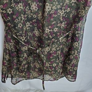 Converse Tops - Converse sheer floral blouse size S